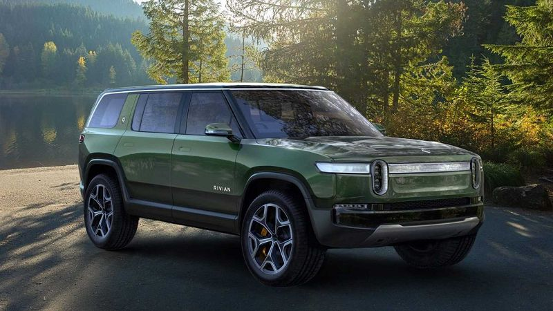 2021 Rivian R1s Automotive Rivian. Black Blue