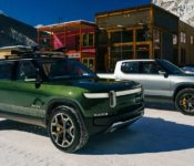 2021 Rivian R1s Charging Cargo Space Charge Delivery