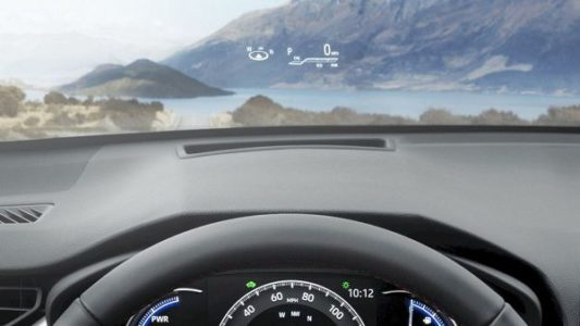 2021 Toyota Rav4 Prime Head Up Display