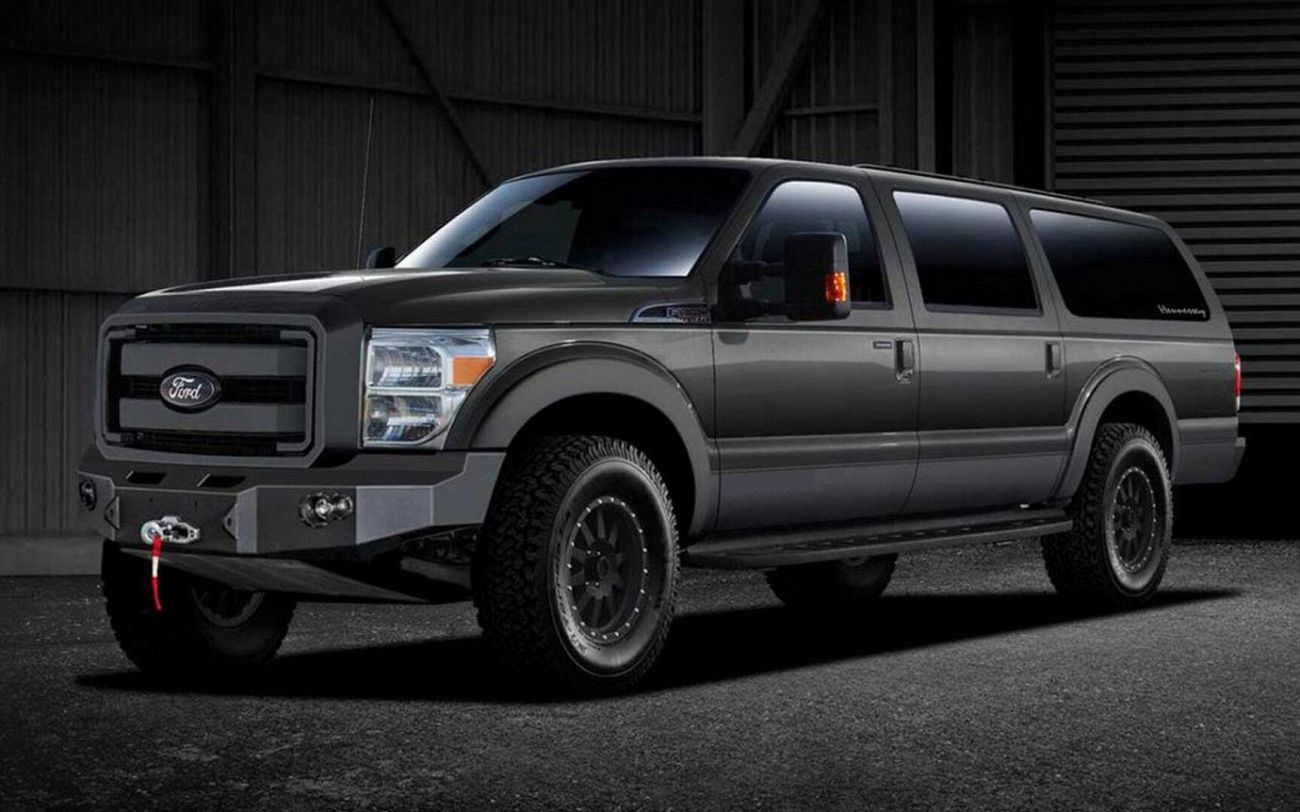 2021 Ford Excursion Diesel Release Date With 4 Inch Offroad Accessories