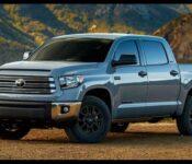 New 2022 Toyota Tundra Truck Interior Mpg Towing Capacity Shots Tailgate Handle