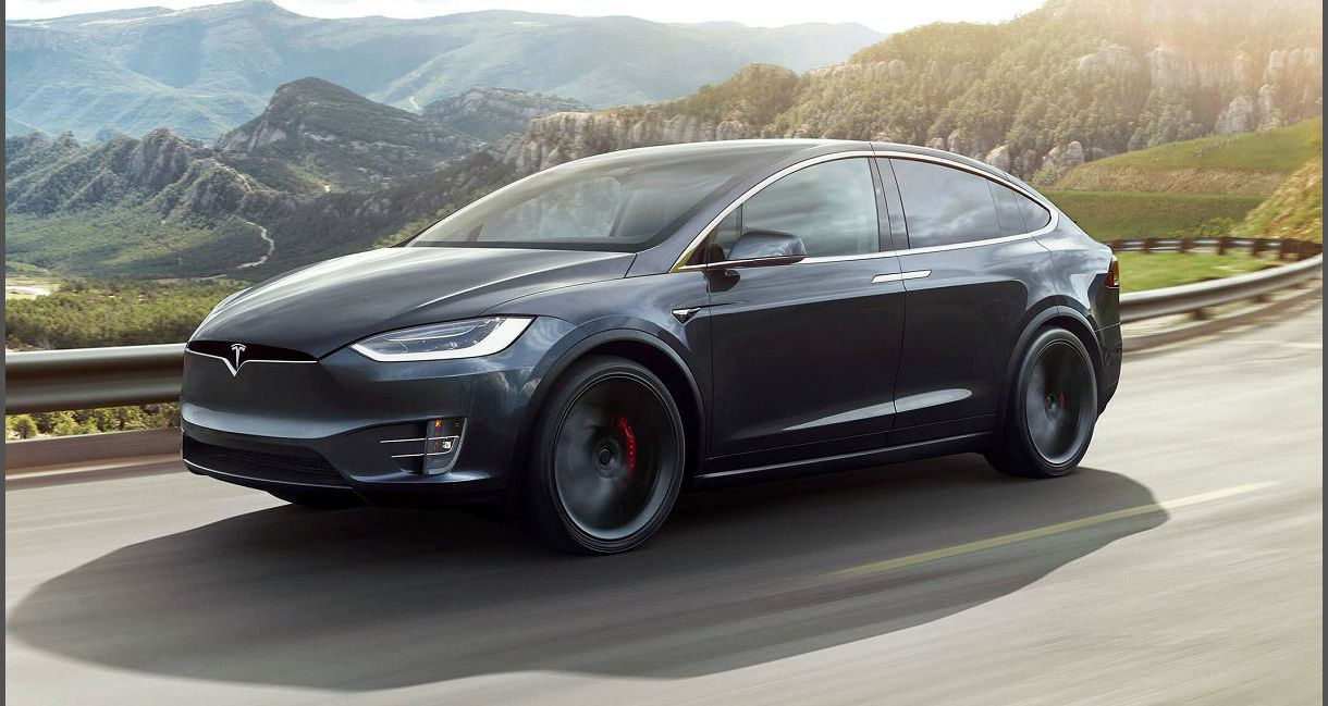 2022 Tesla Model X White 6 Models Series Car Red Image