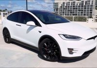 2020 Tesla Model X pictures value white ev features